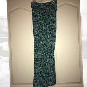 Tribal Print Max Skirt